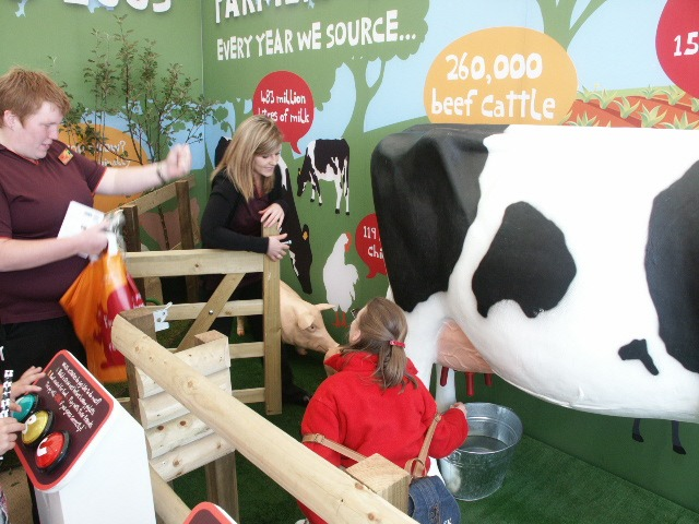 3D Cow Model being milked at Royal Highland Show