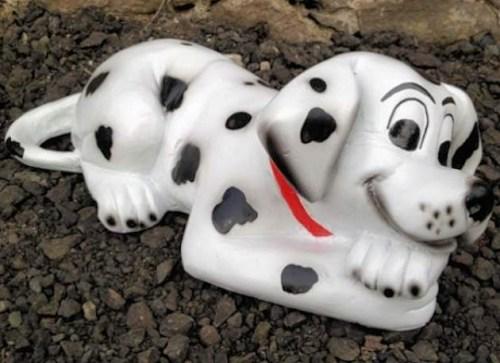 Dalmation Puppy Dog Lying Model