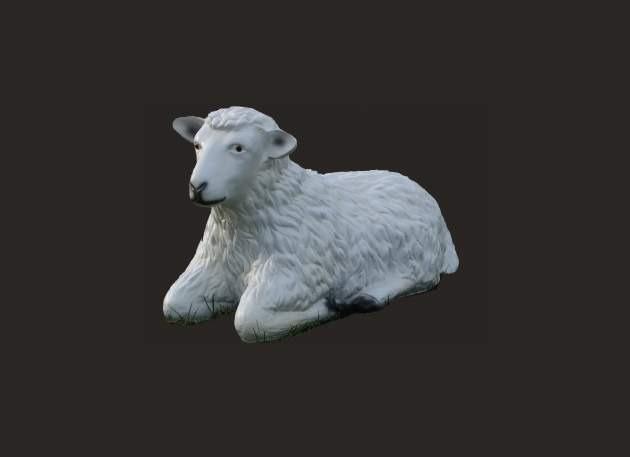 Life Size Lying Down Sheep Model