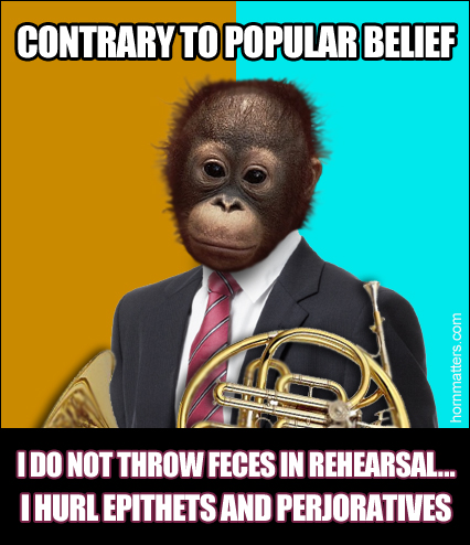 Orangutan French horn meme