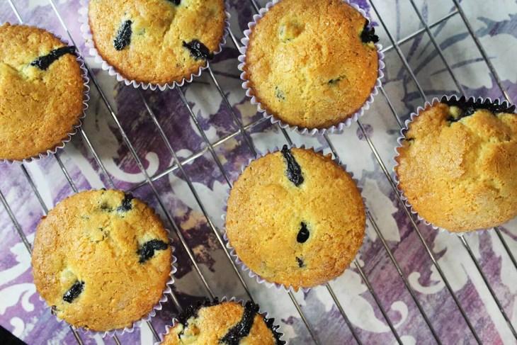 Muffins de arándanos o blueberries receta