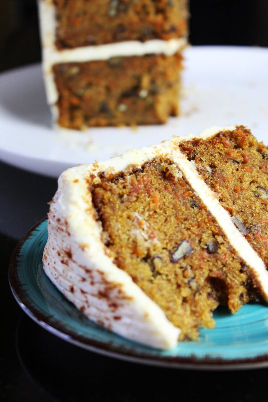 Pastel o tarta de zanahoria