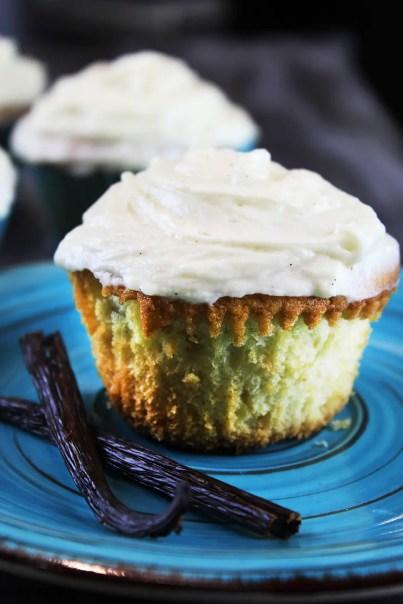 Cupcakes de doble vainilla