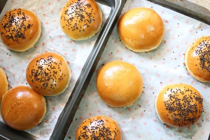 Hamburger brioche buns recipe