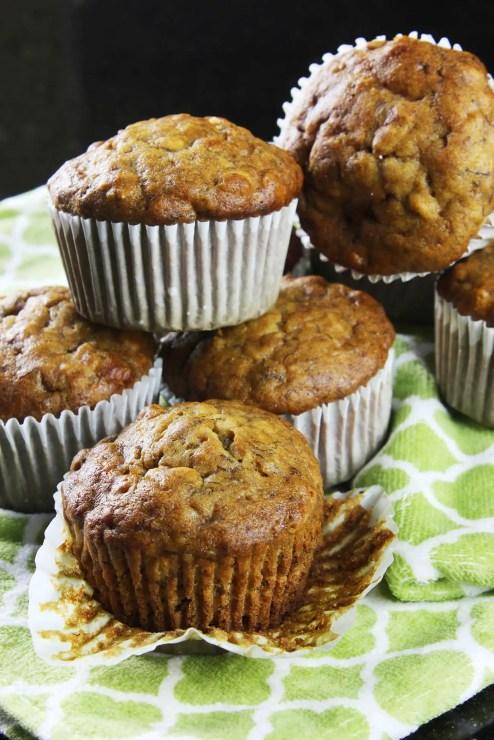 Muffins de plátano caseros