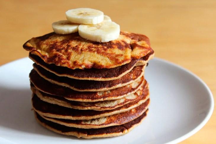 Panqueques saludables de plátano receta