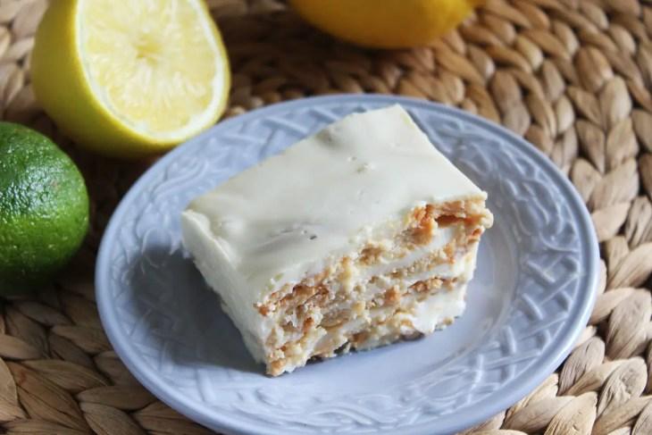 Pay o tarta de limón con galletas