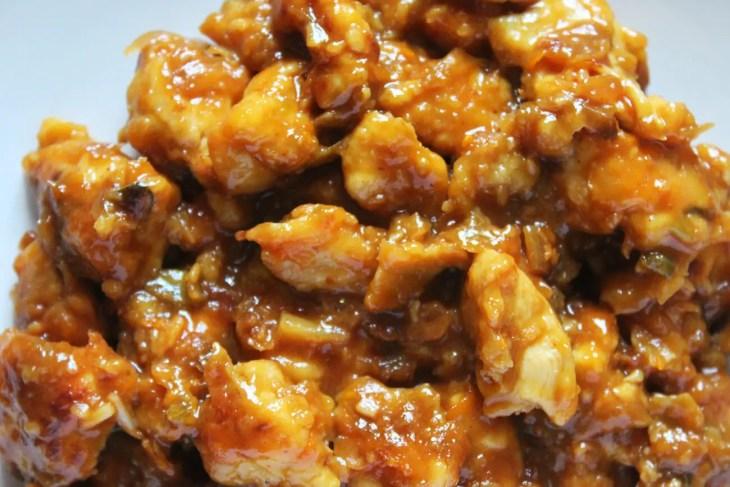 Homemade orange chicken