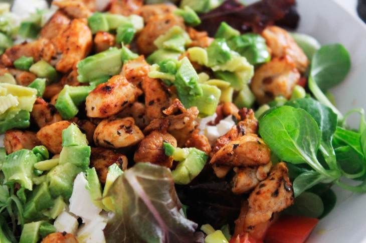 Spicy chicken salad recipe