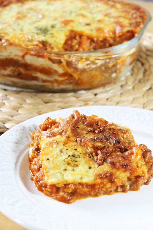 beef and pork lasagna