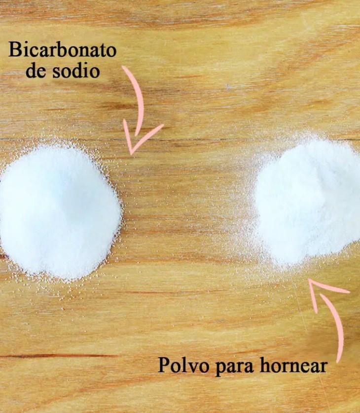 diferencias entre polvo para hornear y bicarbonato