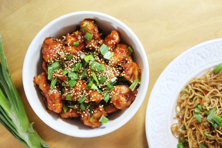 Crunchy sesame chicken