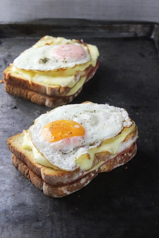 Como hacer un sandwich croque madame