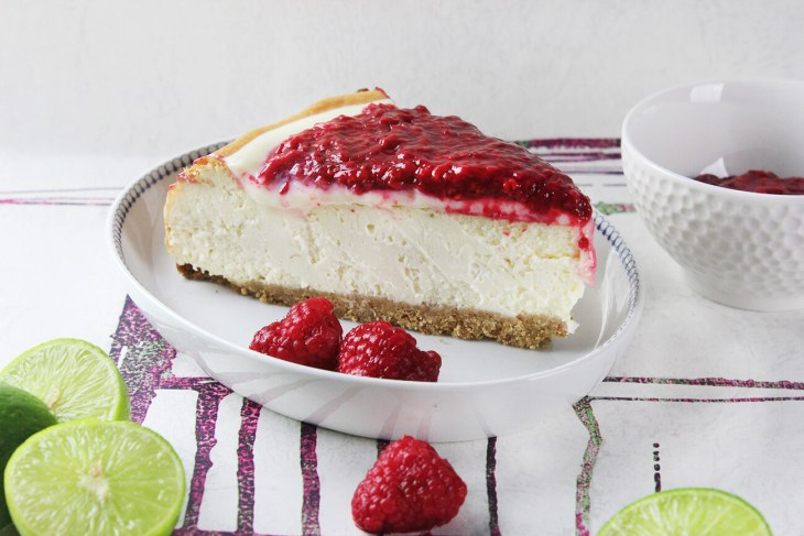 cheesecake de frambuesa y limon
