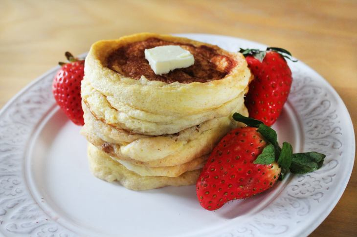 Homemade japanese pancakes