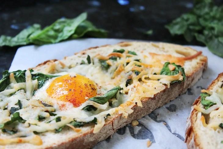Tostada con huevo
