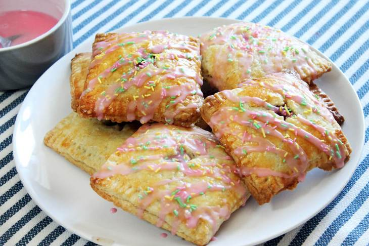 Pop tarts de fresa
