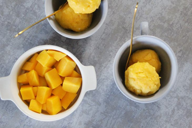 Helado de mango de 3 ingredientes
