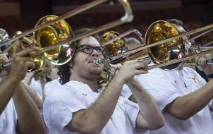 Texas Pep Band always in support-