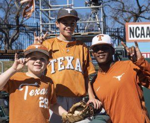 Some young Texas Baseball fans-