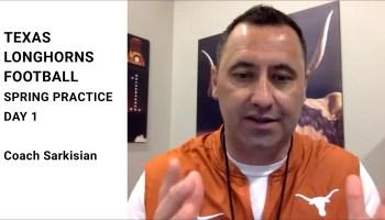 Coach Sarkisian Spring Practice Day 1