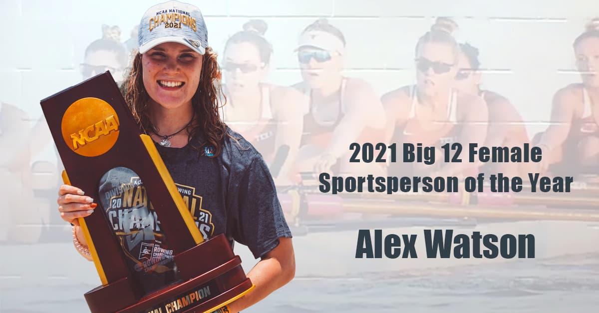Alex Watson Big 12 Female Sportsperson of the Year