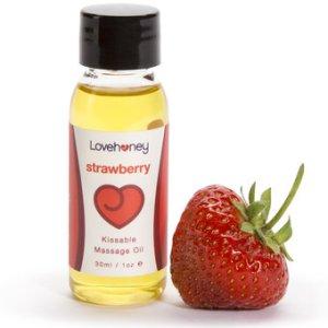 strawberry massage oil