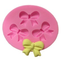 Silicone 3 x Bow Fondant Craft Mould
