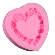 WS NZ-0155 Silicone Floral Heart Mould