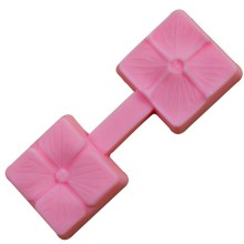 NZ-0282 Silicone Double Sided 4 x leaf clover mold.6
