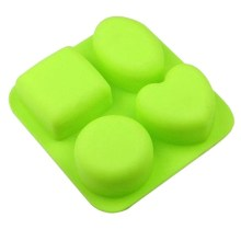 NZ-0256 Silicone 4 x Associated Shape Soap Mold.3