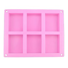 NZ-0270 Silicone 6 cavity oblong soap bakeware mold