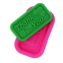 NZ-0273  Silicone Thank You Soap Mold.1