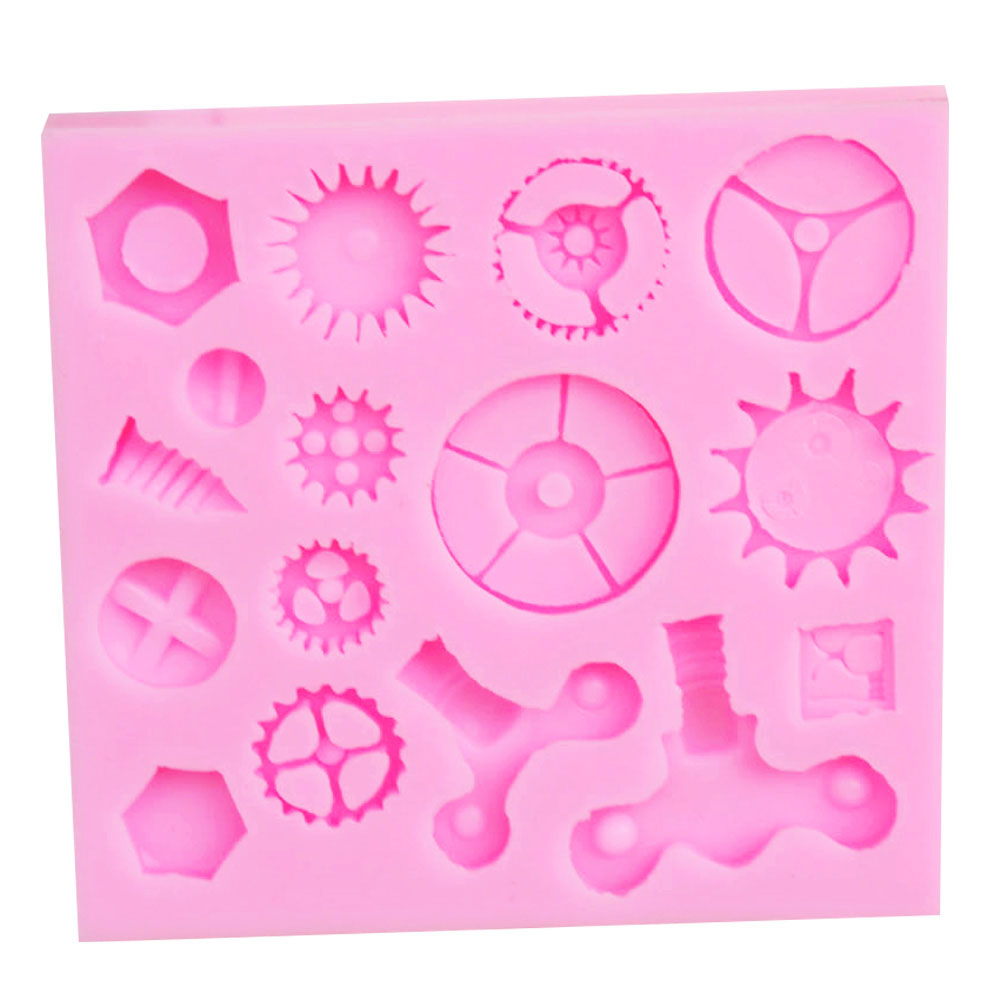 Steampunk, Screws, Nuts & Bolts Silicone Polymer Clay & Cake Craft Mold