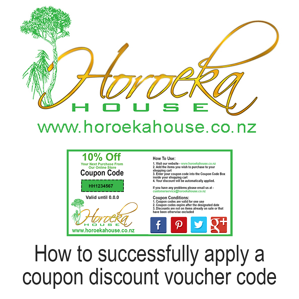dd4d9c106 How To Use A Coupon Code – Horoeka House LTD