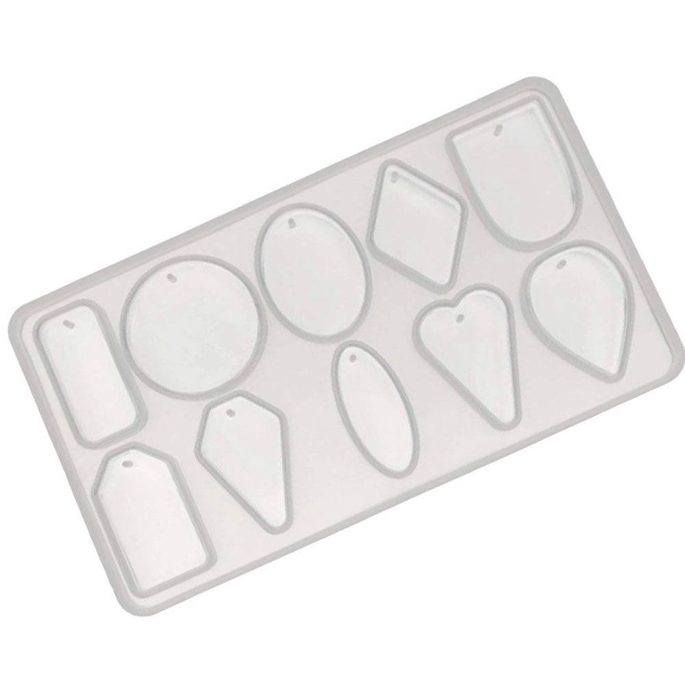 10 x Pendant Silicone Craft Mould For Resin, Polymer & Metal Clay Jewelry  Making