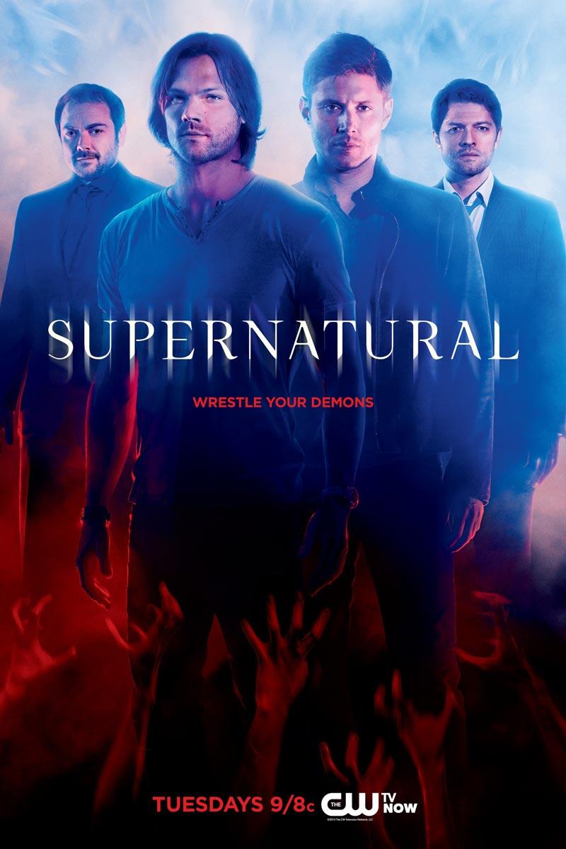 Capa da 10ª temporada de Supernatural   Imagem: divulgação