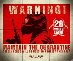 28 Weeks Later epic movie poster for the rage virus film followup