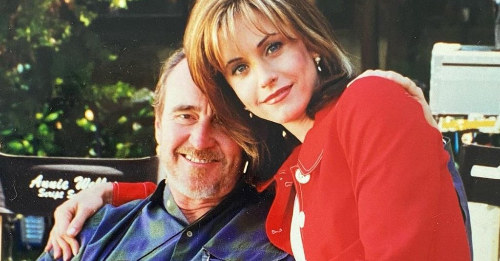 Courteney Cox and Wes Craven