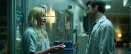 "(L-R) Abbie Cornish as Jane and Justin Long as Liam in the thriller film ""LAVENDER"" an AMBI Media Group release. Photo courtesy of AMBI Media Group."