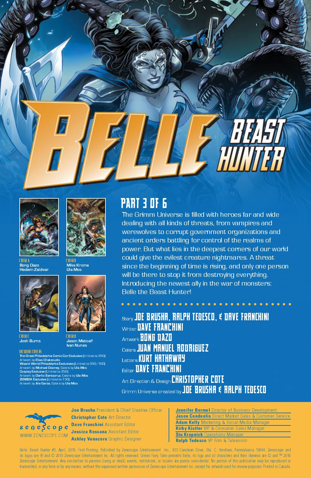 Comic Crypt: Belle the Beast Hunter #3 Preview!