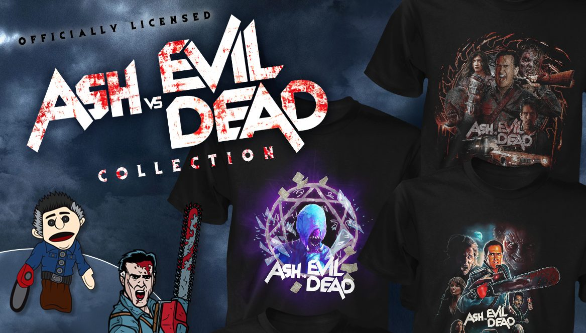 fcef3c74fff Fright-Rags has new horror movie merch on sale with new collections for ASH  VS EVIL DEAD ...