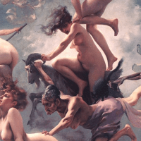Witches Going to Their Sabbath - painting by Luis Ricardo Falero