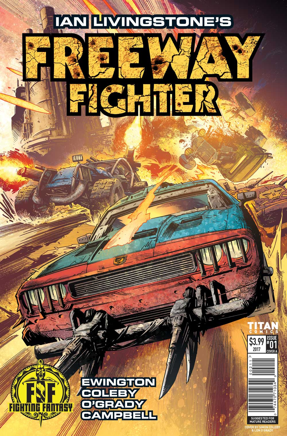 Freeway Fighter #1: Covers + Interior art revealed!