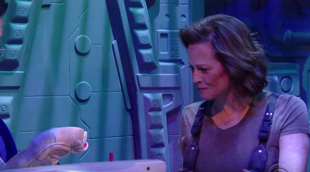 Sigourney Weaver and Stephen Colbert take on 'Alien: Covenant'