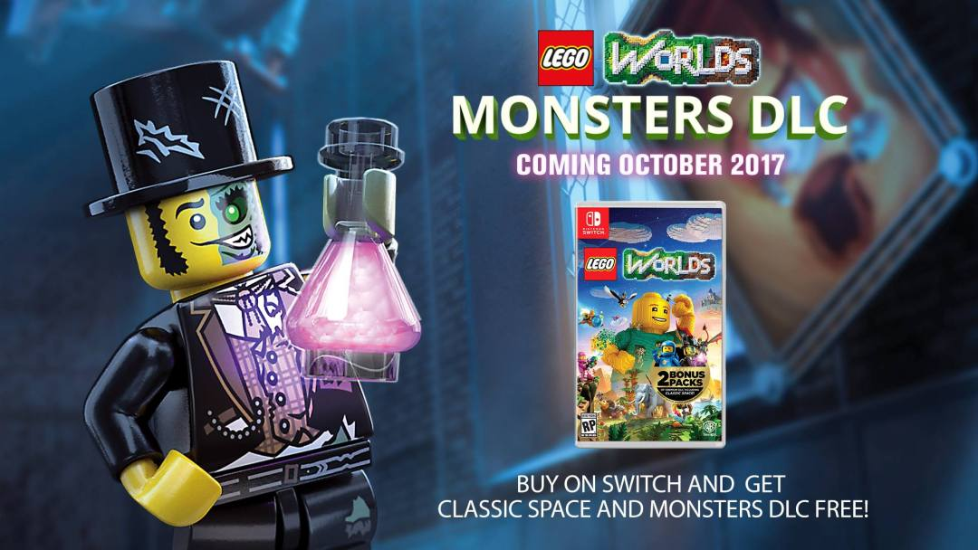 LEGO(R) Worlds Adding 'Monsters' DLC Pack for Strange and Spooky Adventures with the Undead