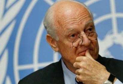 الأمم المتحدة لن تجدد مهمة دي ميستورا بطلب من نظام الأسد