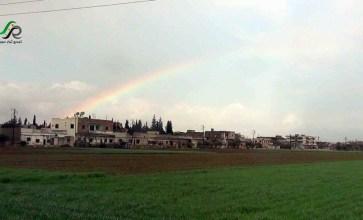 قوس ألوان في سماء ممطرة – تلبيسة/حمص – عدسة محمود بكور