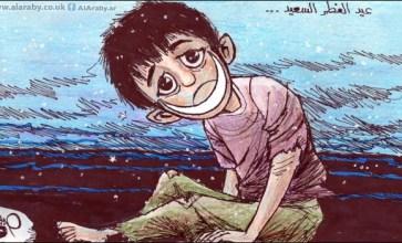 عيد الفطر السعيد  – ريشة حبيب حداد