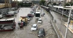 أمطار مفاجئة غزيرة تعطل النقل جزئياً في اسطنبول